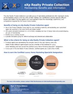 eXp Realty Private Collection offers luxury agents the tools to succeed. Learn how to become an eXp Realty Private Collection agent and the benefits of membership.