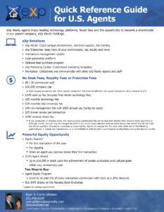 eXp Quick Reference Guide | Learn what eXp Realty offers its agents as well as a breakdown of all the fees. eXp Realty costs are amongst the lowest in the industry while offering a great deal of value.